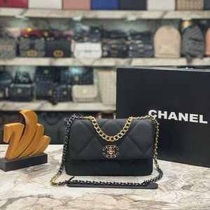 Chanel Quilted 19 Flap Crossbody Bag